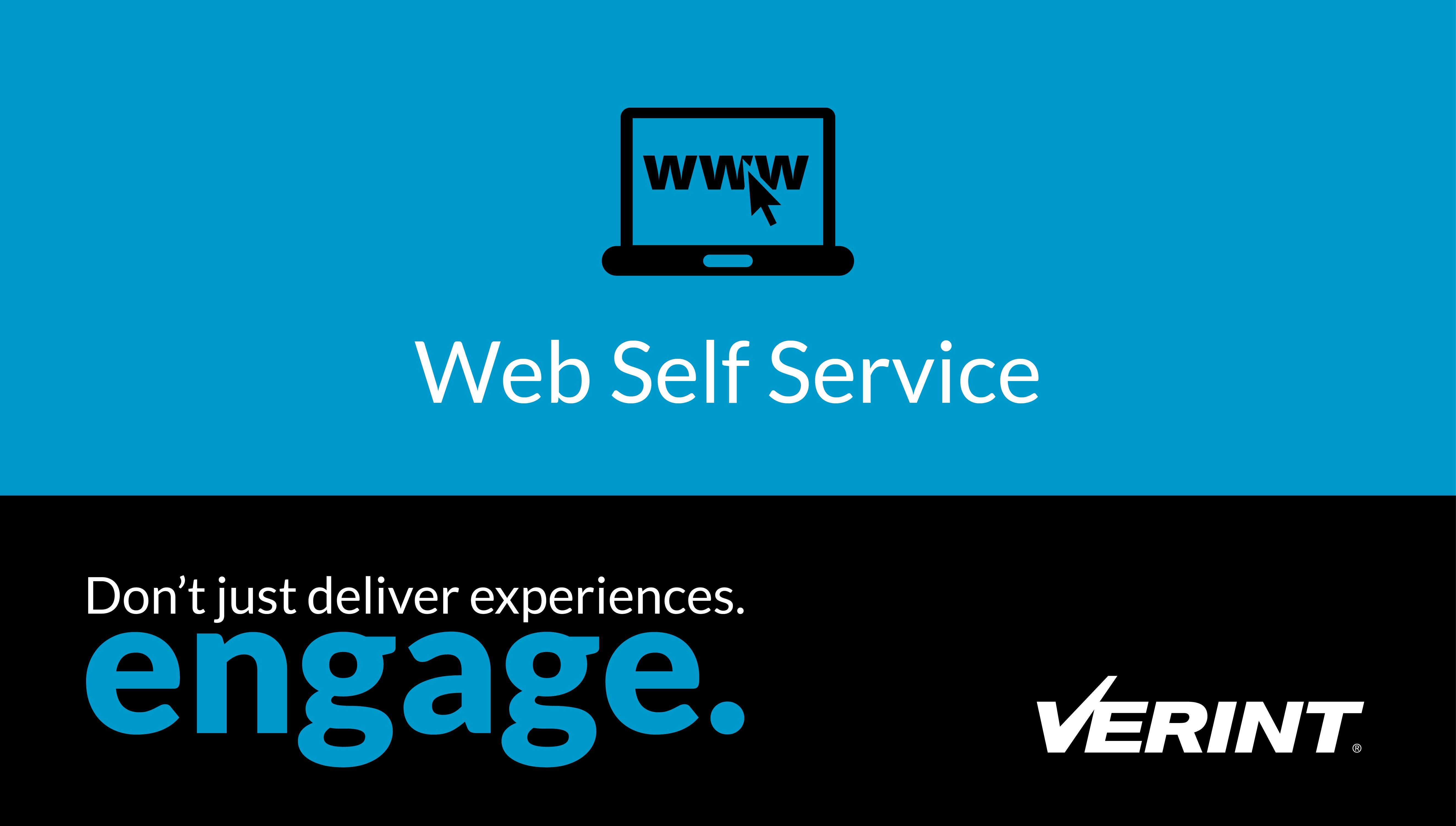 Web Self-Service