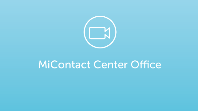 MiContact Center Office Demo