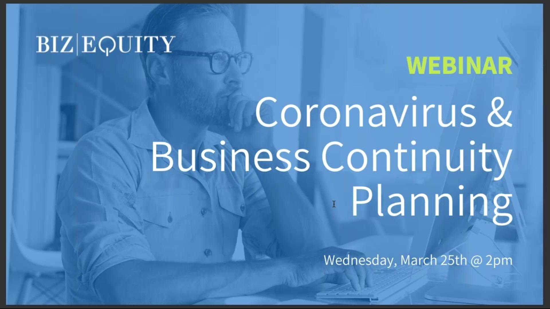 Coronavirus and Business Continuity Planning
