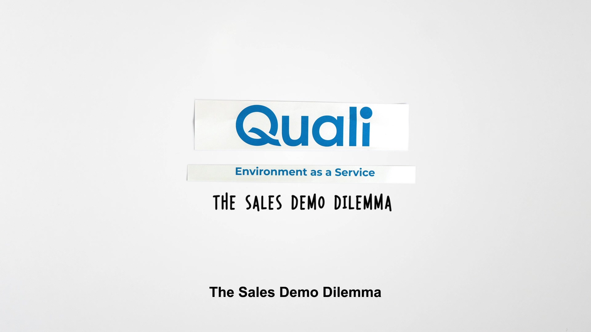 Solve the Sales Demo Dilemma with Enviornment as a Service from Quali Video