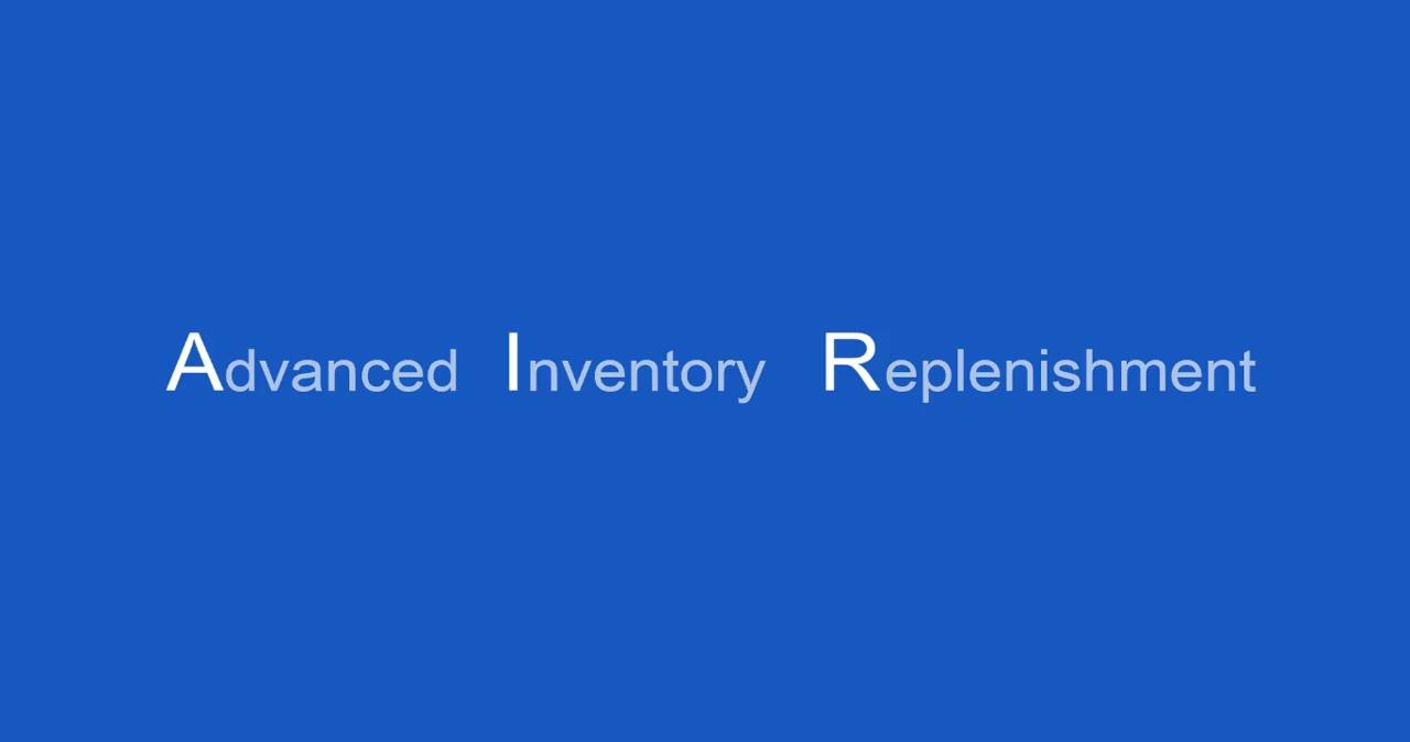 Advanced Inventory Replenishment - Demand Review for Microsoft Dynamics GP