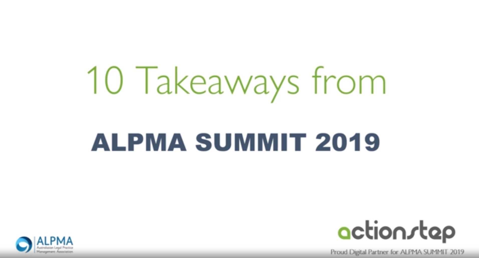 Things we learned at ALPMA