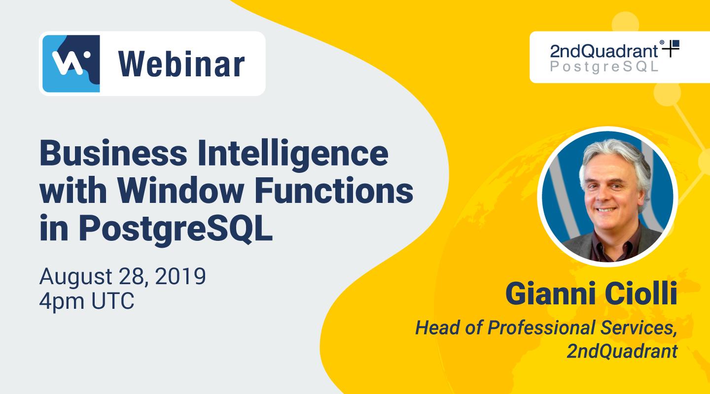 Business Intelligence with Window Functions in PostgreSQL - Hubspot