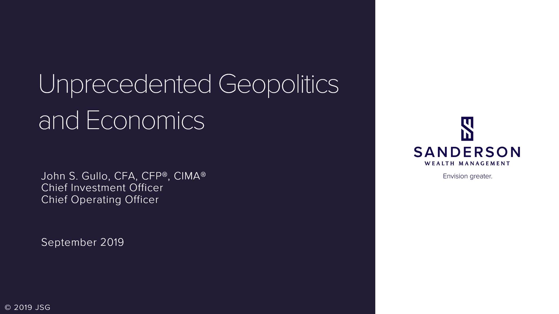 Unprecedented Geopolitics _ Economics
