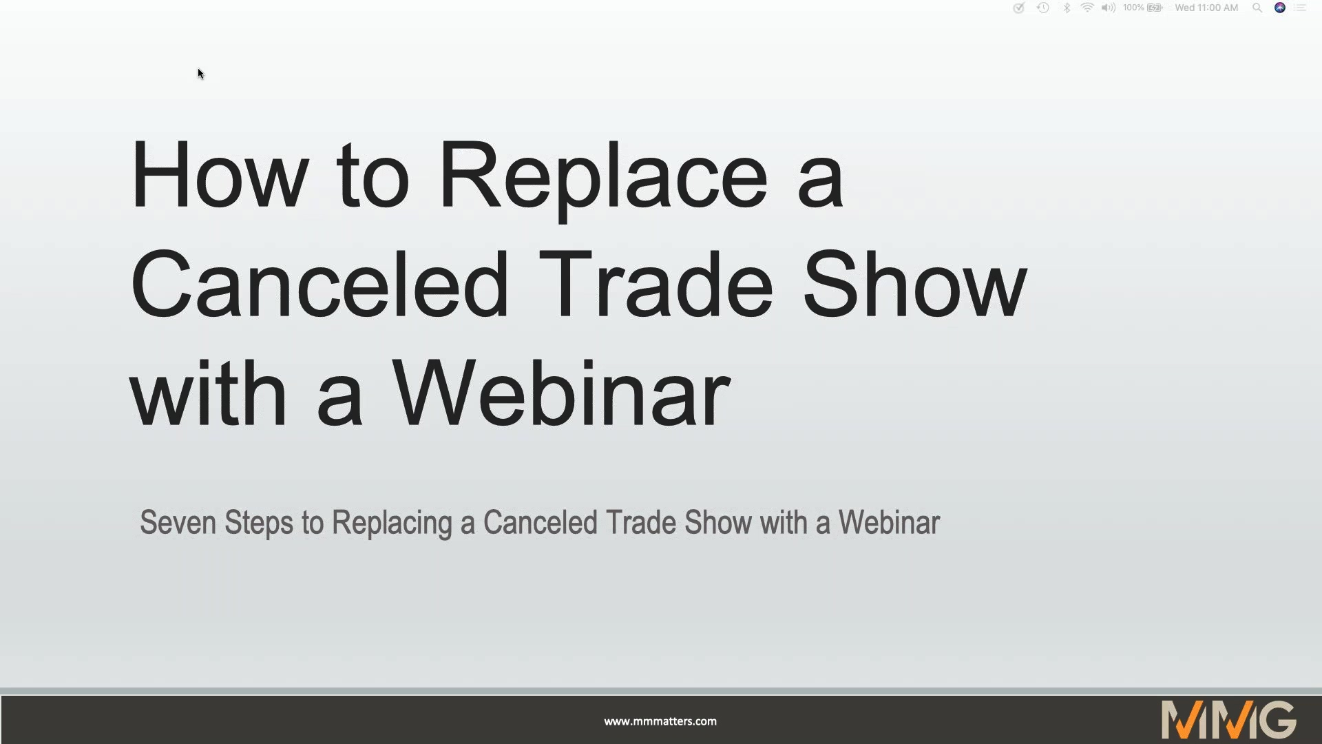 How to Replace Your Canceled Trade Show with a Virtual Webinar