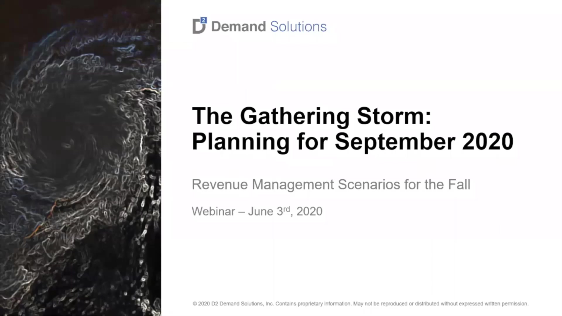 Webinar - The Gathering Storm