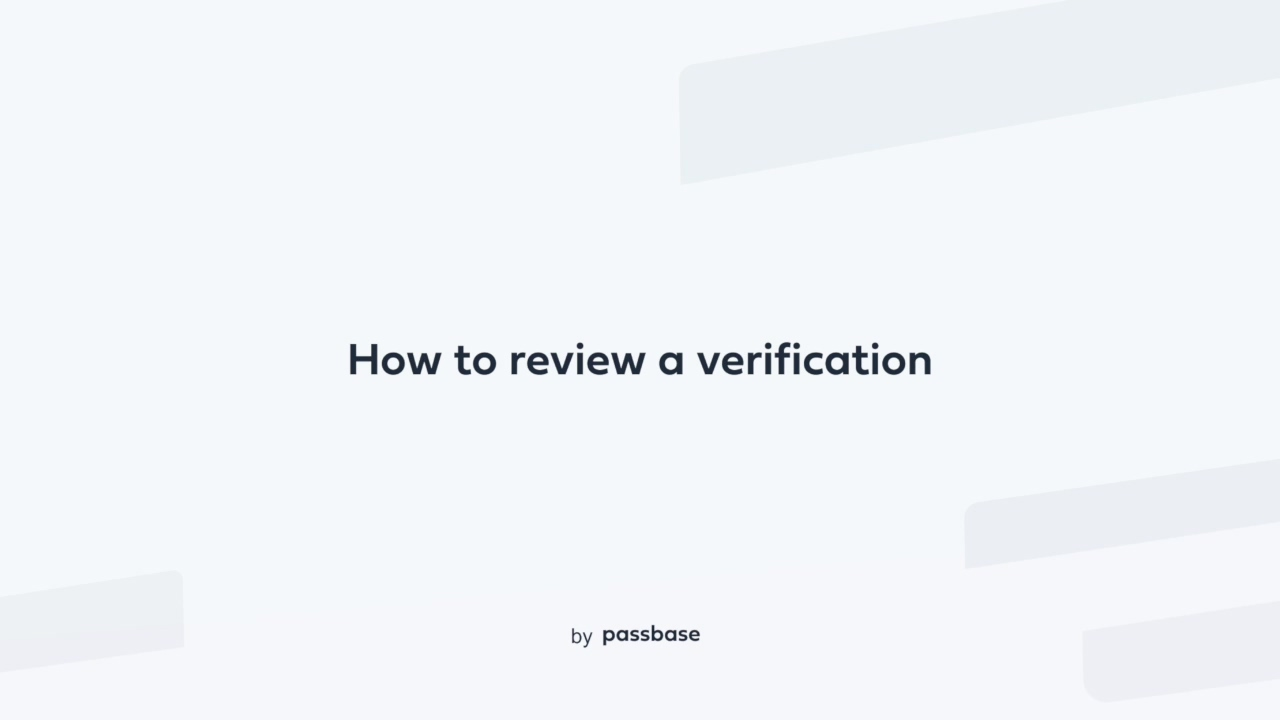 How to review verification