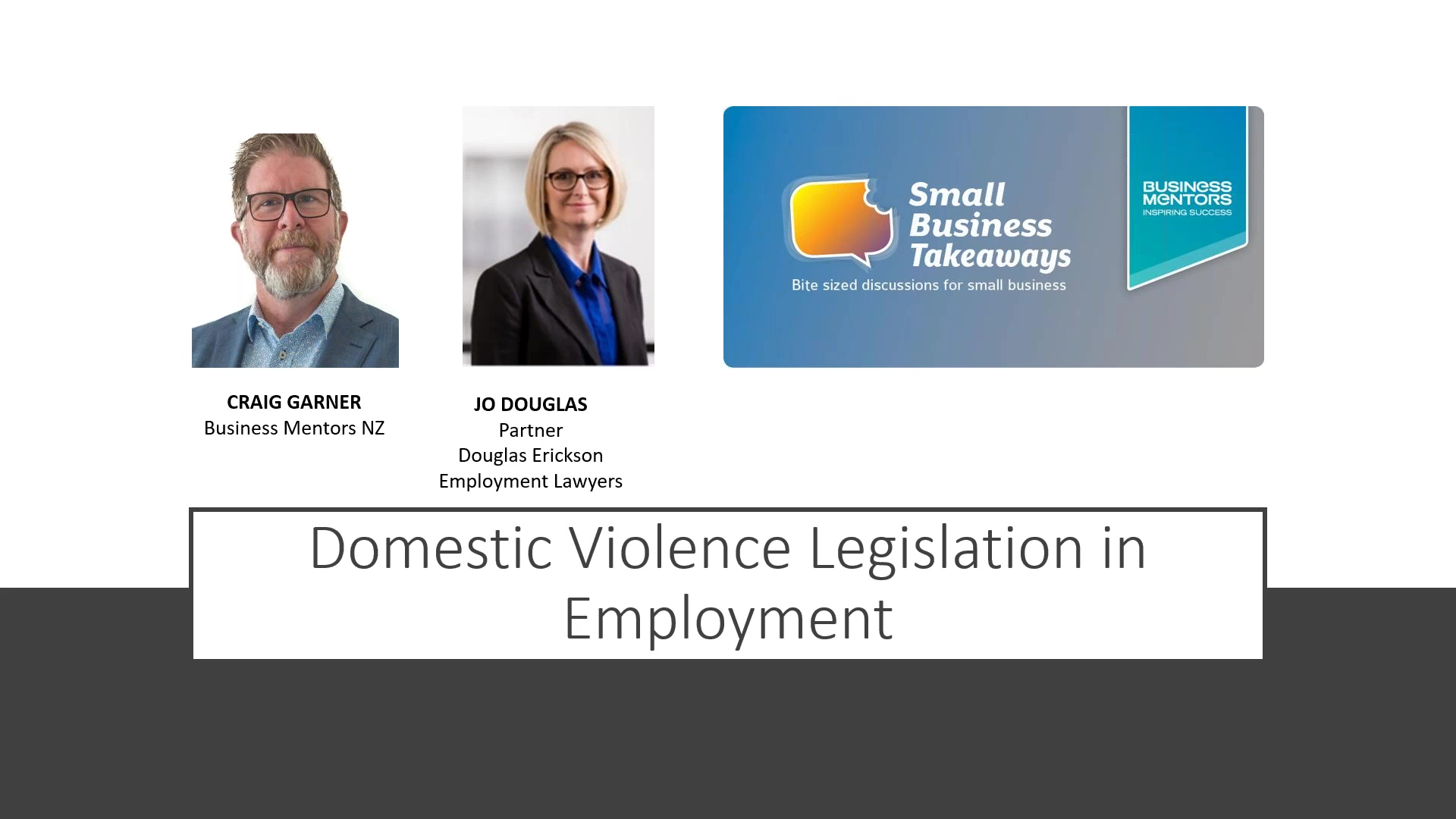 Business Mentors NZ Small Business Takeaways_ Employment Law Need to Know - Family Violence Legislat