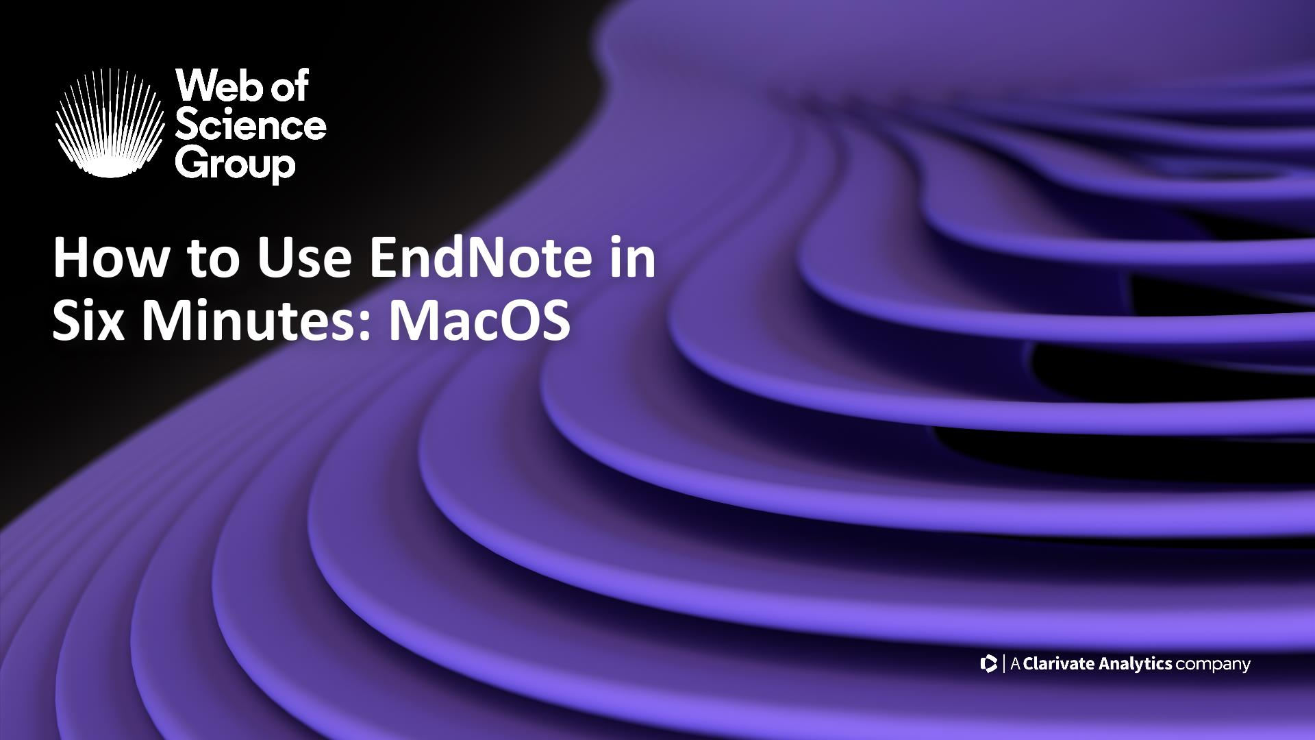 Our 'How to use EndNote in 10 minutes' video will help you in writing research papers. Learn how.