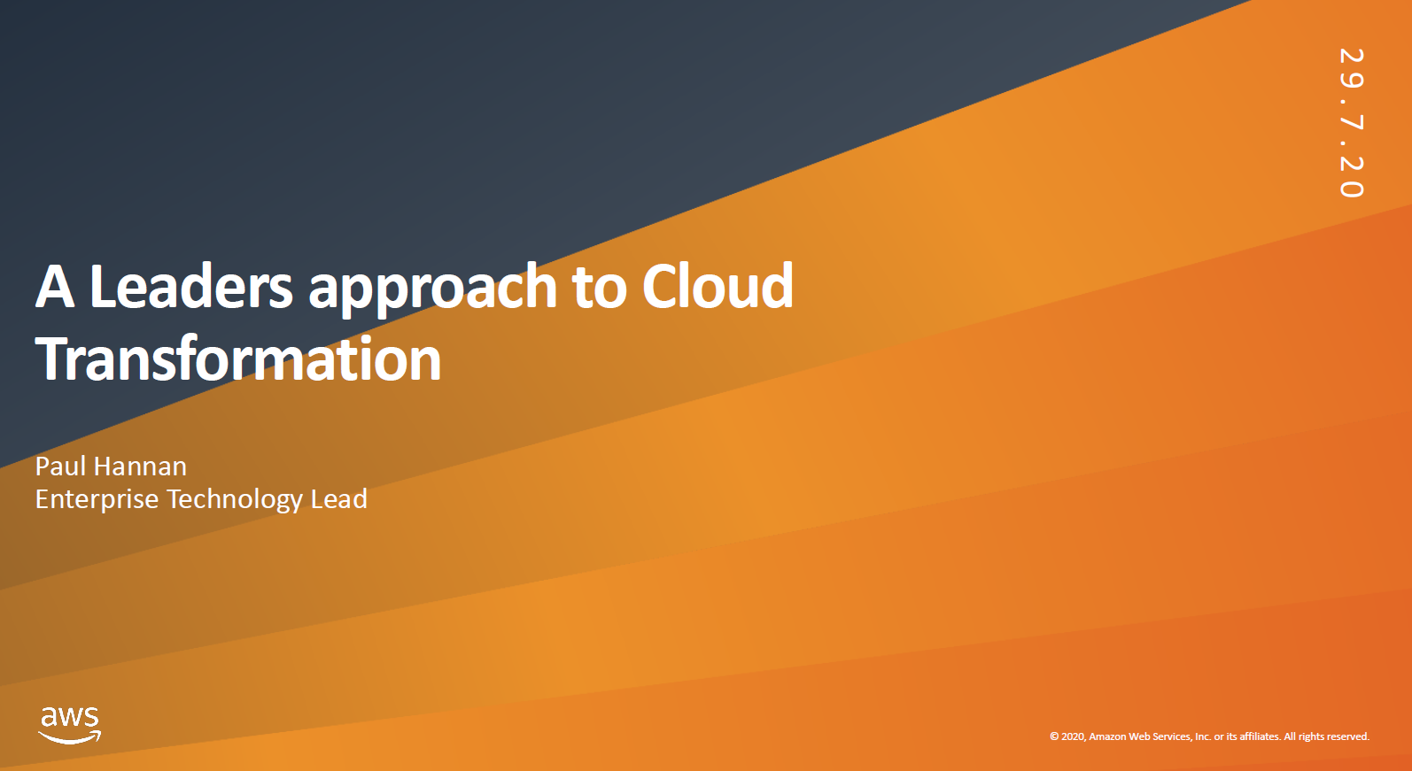 A Leaders approach to Cloud Transformation_webinar recordings