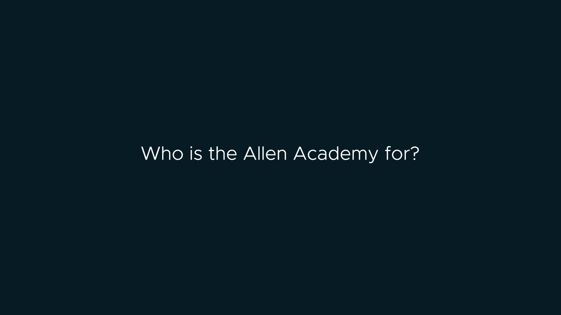 Allen Academy Vision Q2 - Who is it for