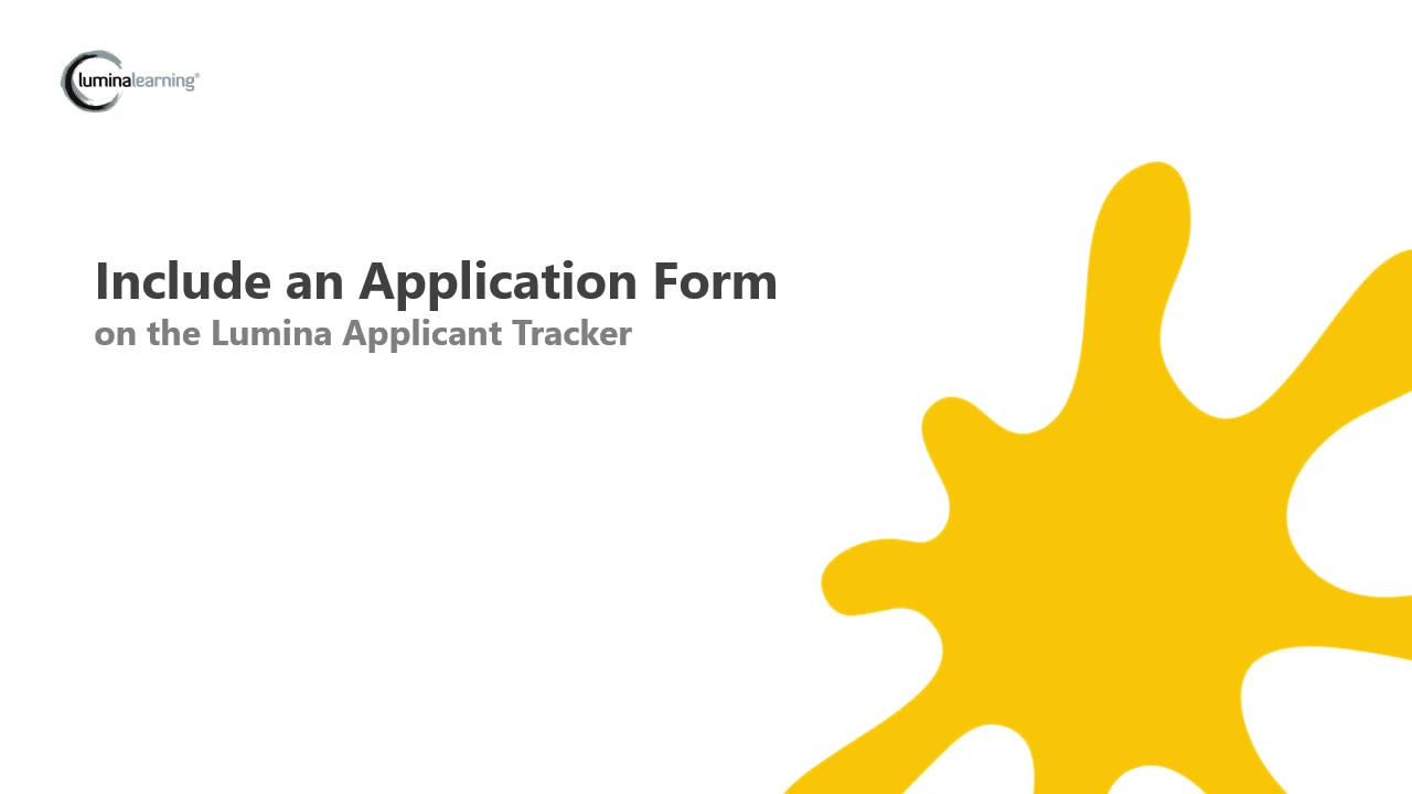 Include an Application Form