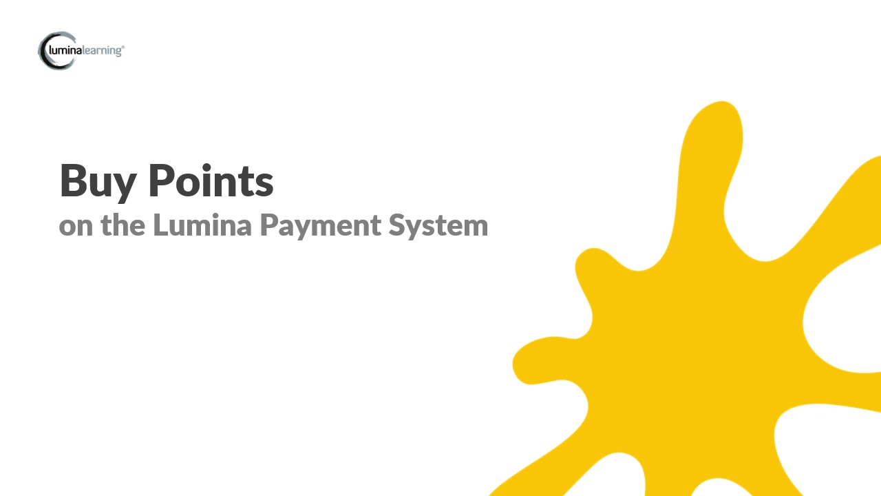 Buy points - New Payment System SYSTEM GUIDE
