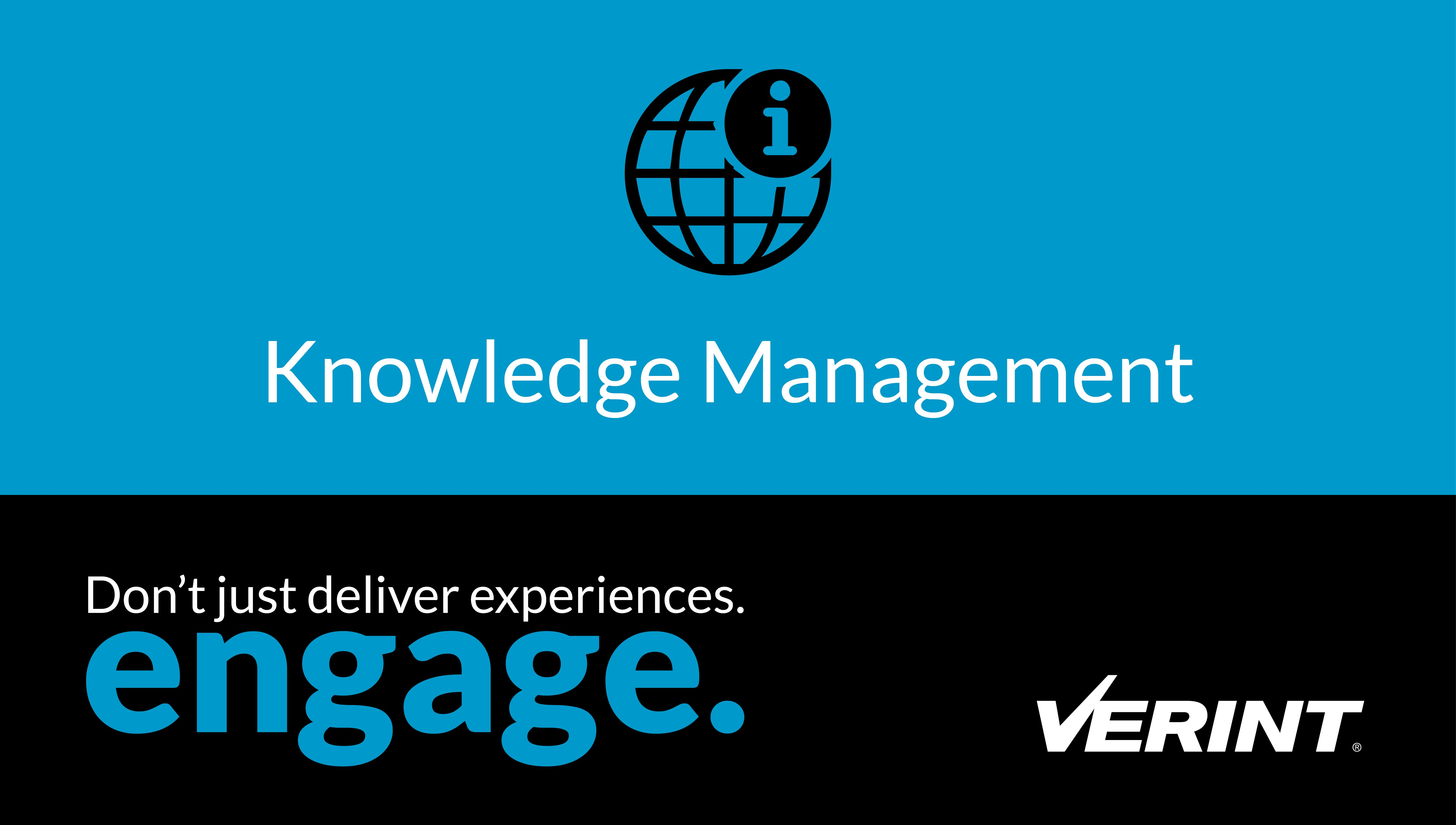 Verint Knowledge Management