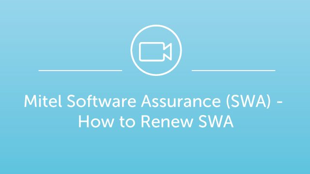 AMC - How to Renew Software Assurance (SWA) - Global - EN