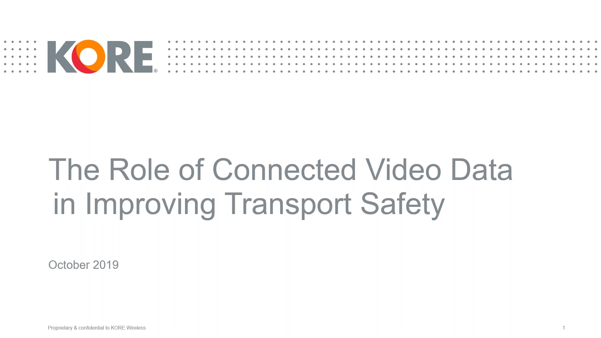 The role of connected video data in improving transport safety