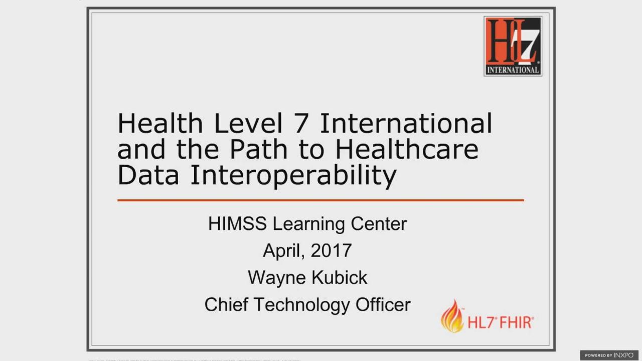 HL7: On the Path to Interoperability