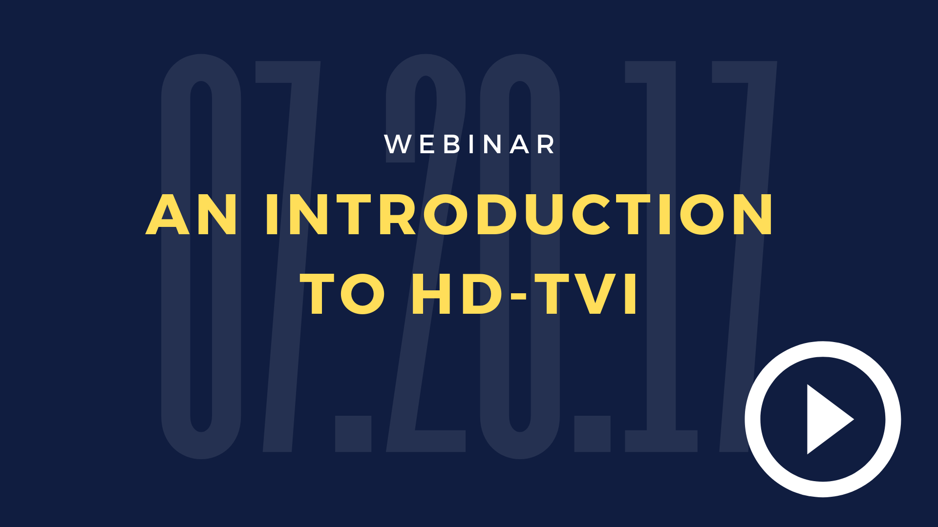 An Introduction To HD-TVI