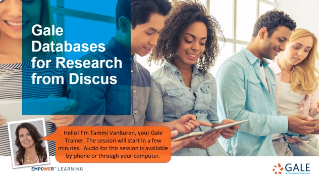 For Discus:  Gale Databases for Research from Discus Thumbnail