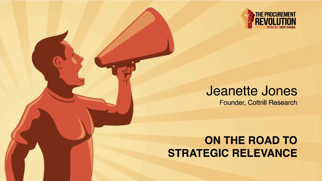 Jeanette Jones On the Road to Strategic Relevance