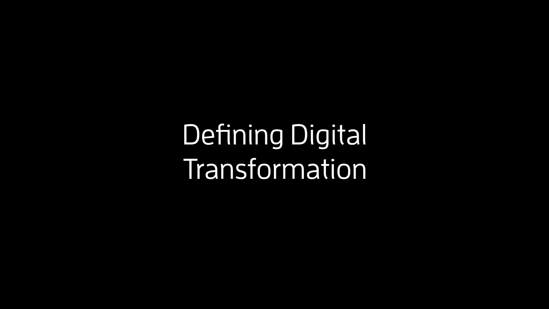 Digital Transformation of Supply Chains - Defining Digital Transformation