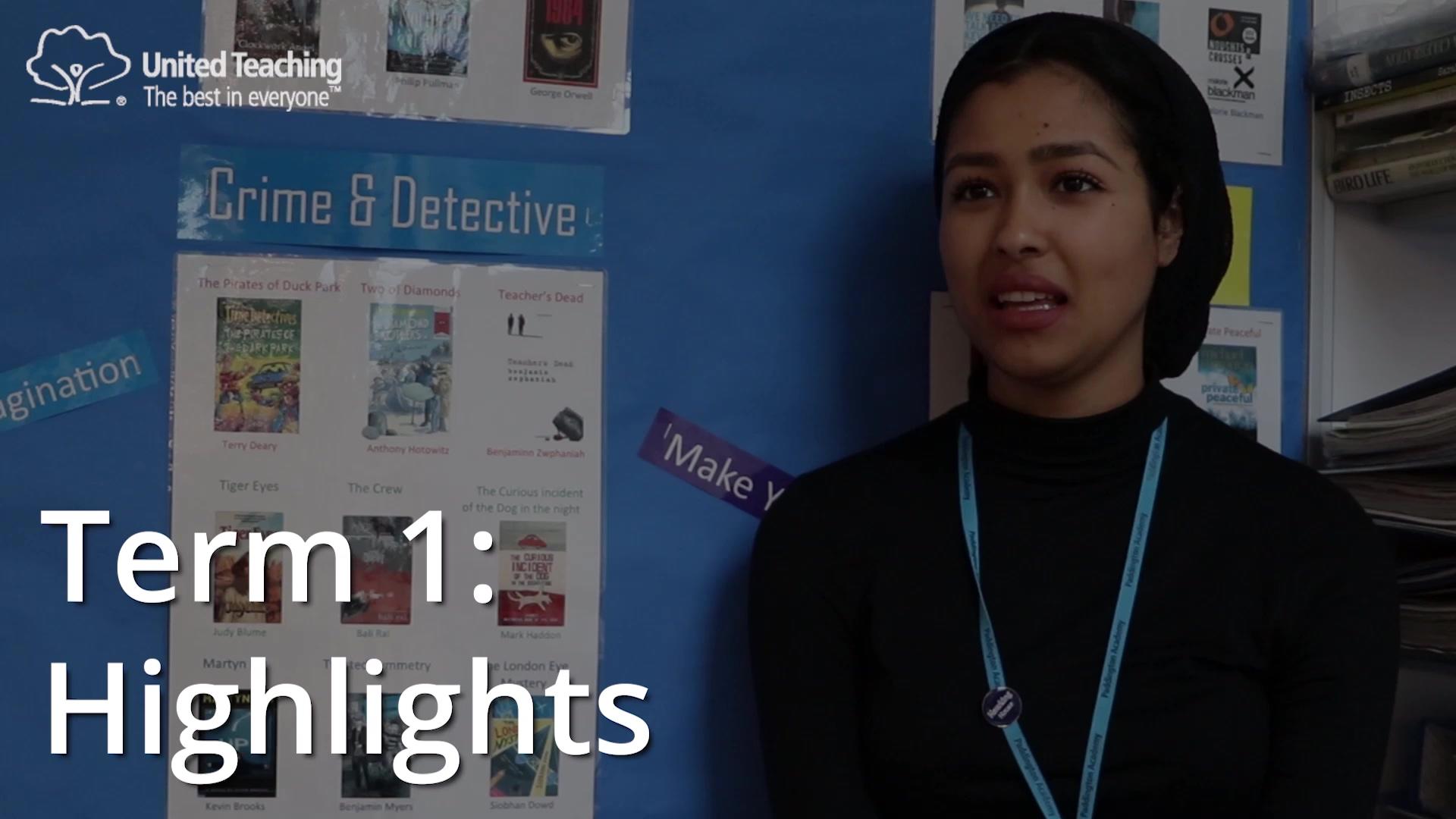 Sarah - term 1 highlights