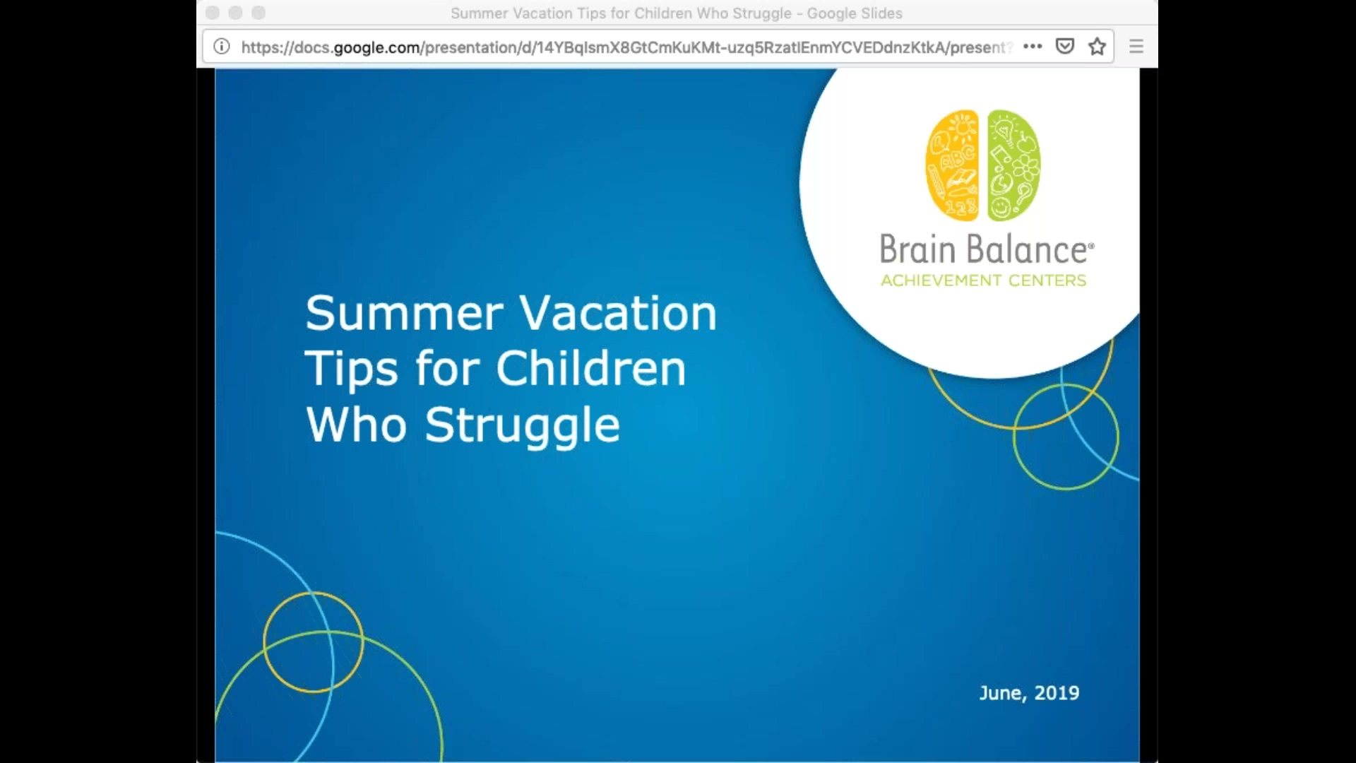 Summer Vacation Tips for Kids who Struggle