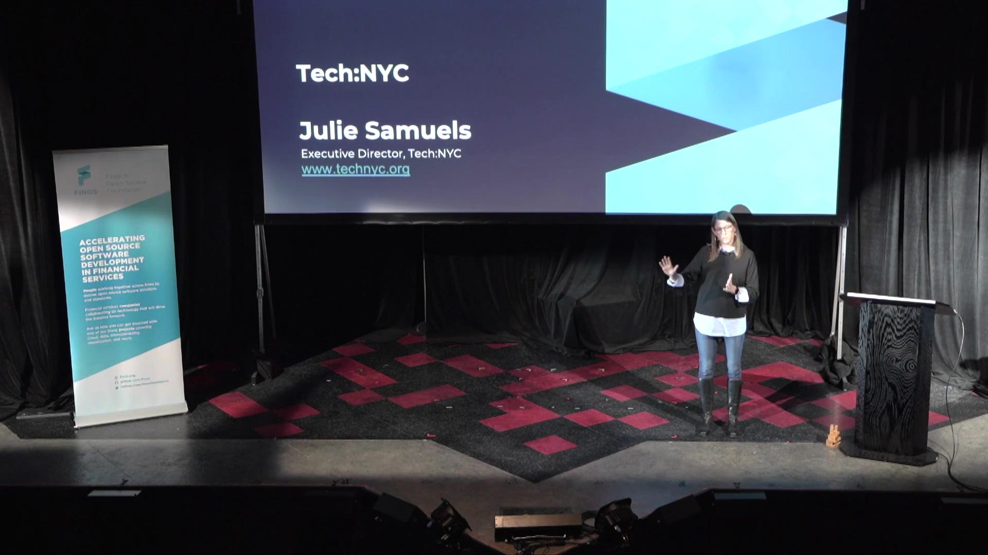 Julie Samuels - Tech NYC - FINOS OSSF 2019