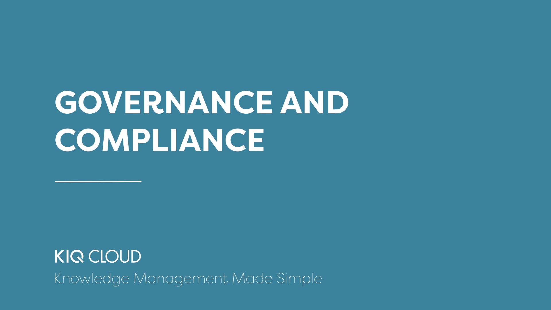 3. Governance and Compliance