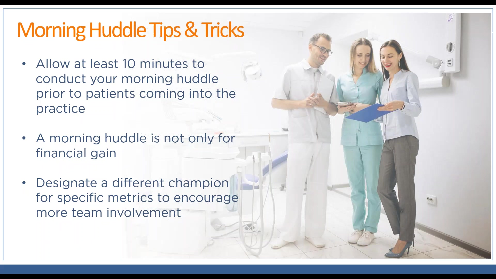 Mornign Huddle Tips and Tricks