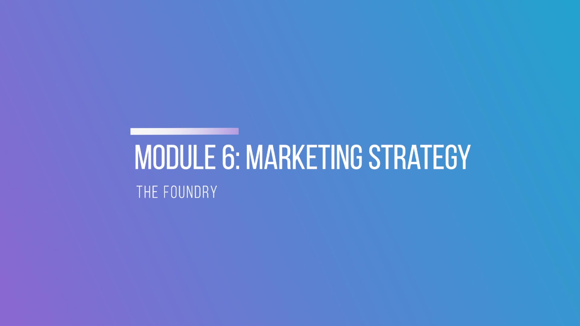 Module 6- Marketing Strategy