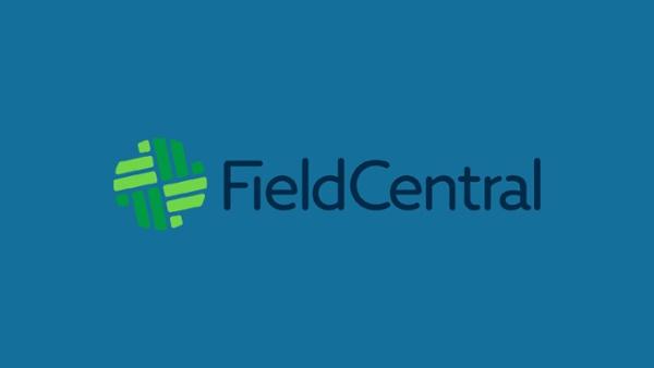 FieldCentral logo on a dark blue background