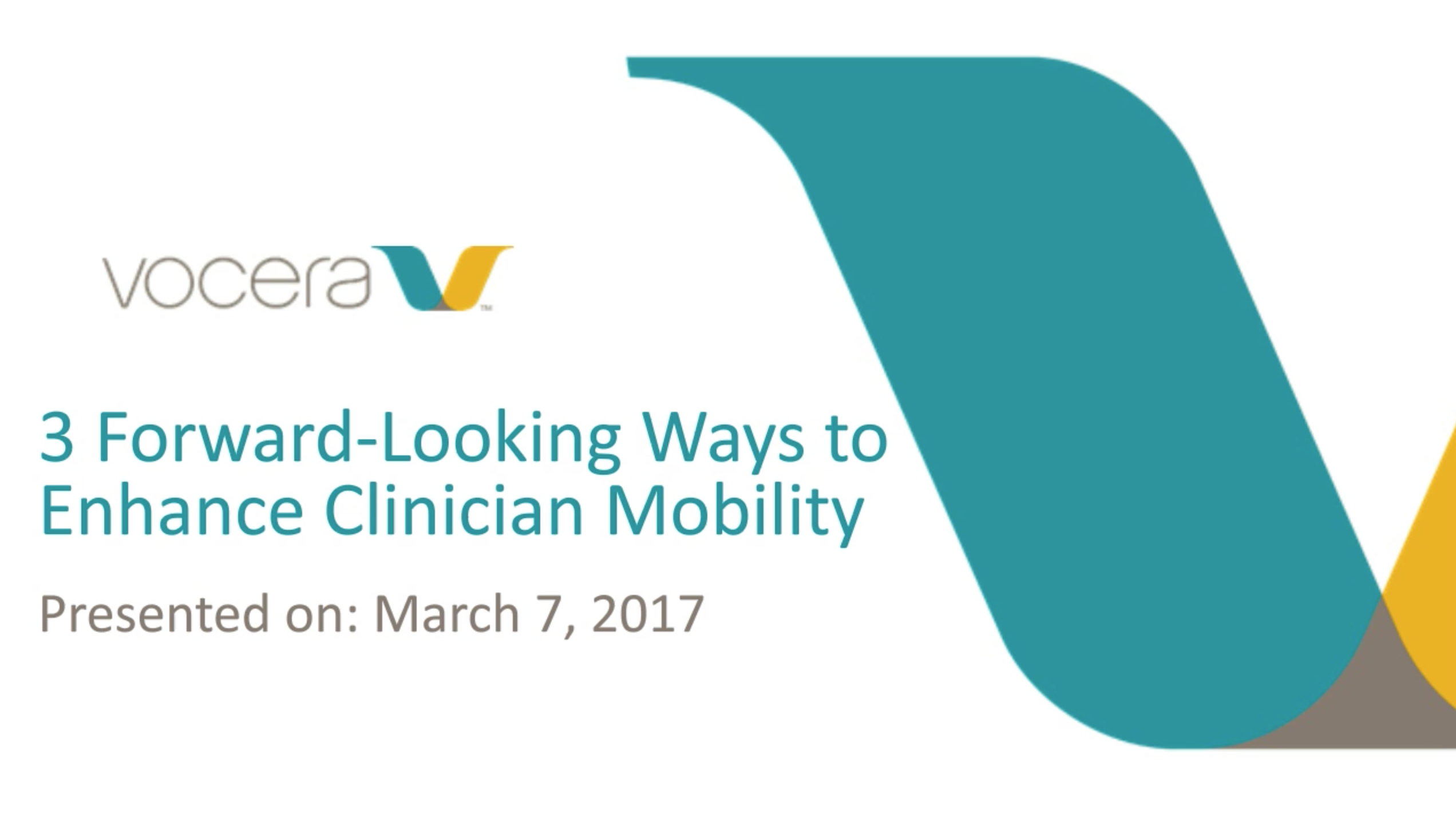 Three Forward-Looking Ways to Enhance Clinician Mobility