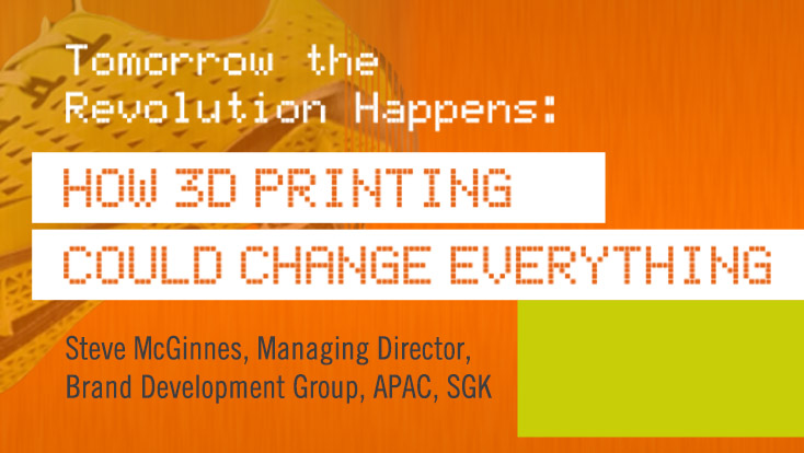 Tomorrow The Revolution Happens: How 3D Printing Could Change Everything
