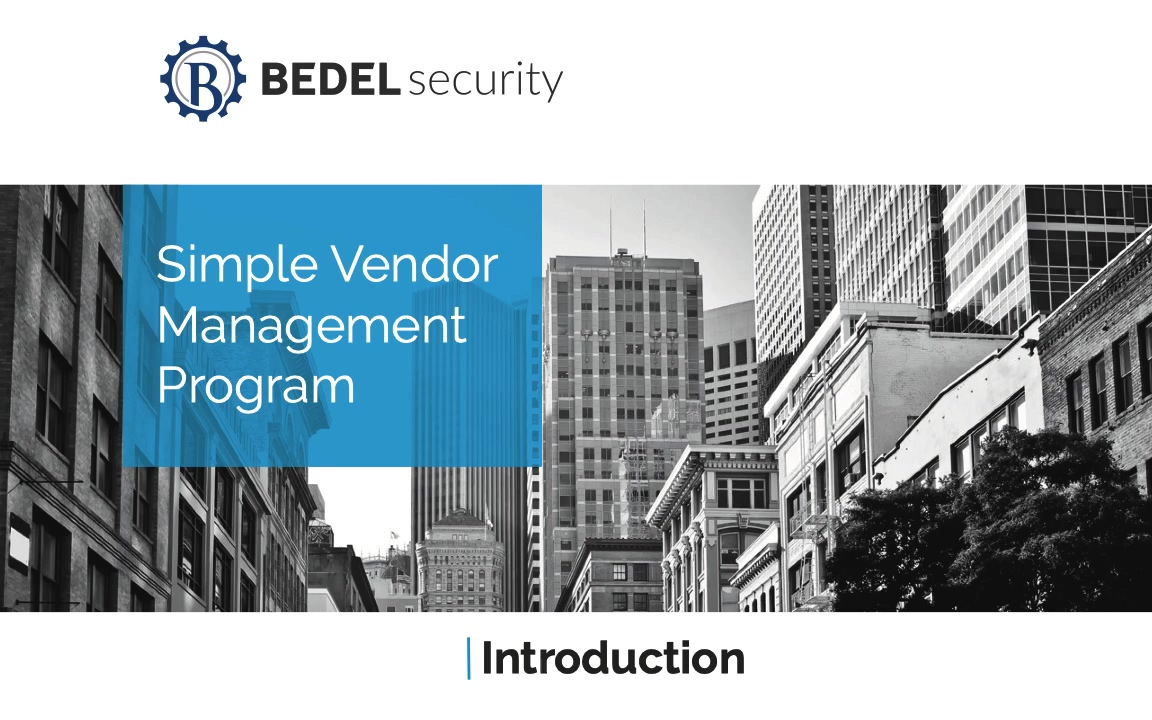 Simple Vendor Management Program Intro Video_Good