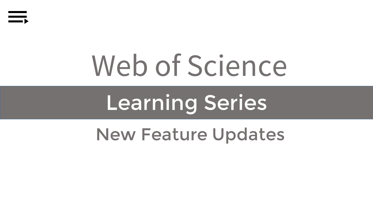 home what s new in web of science libguides at clarivate analytics