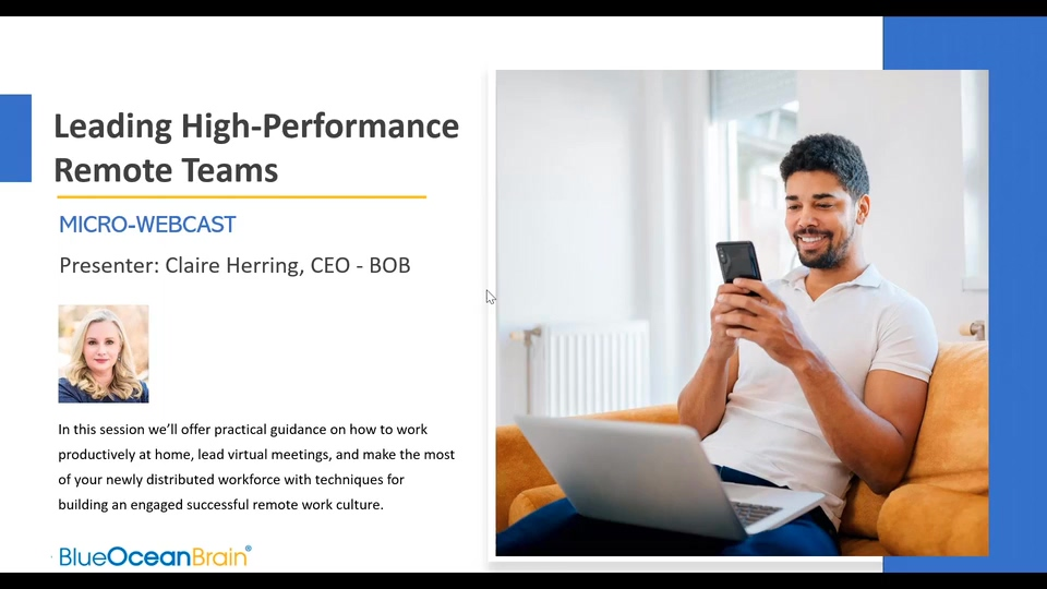 Webcast Snippet - Leading High-Performance Remote Teams (2020)