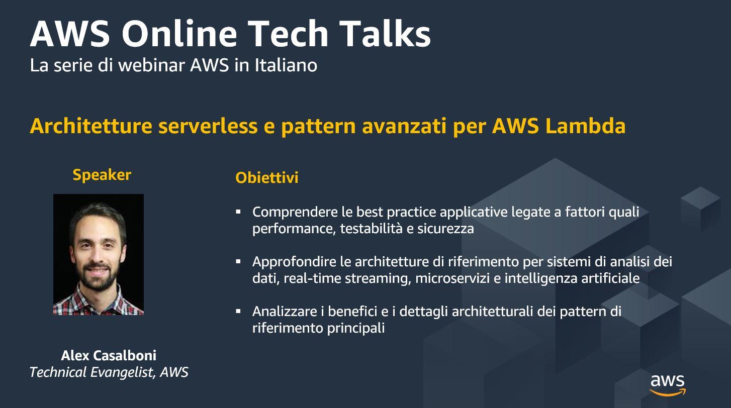 Architetture serverless e pattern avanzati per AWS Lambda