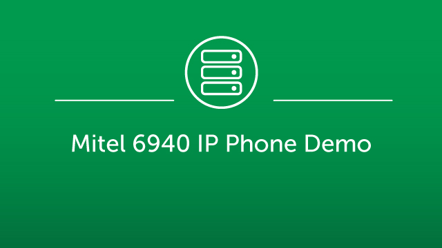 Mitel 6940 IP Phone Demo