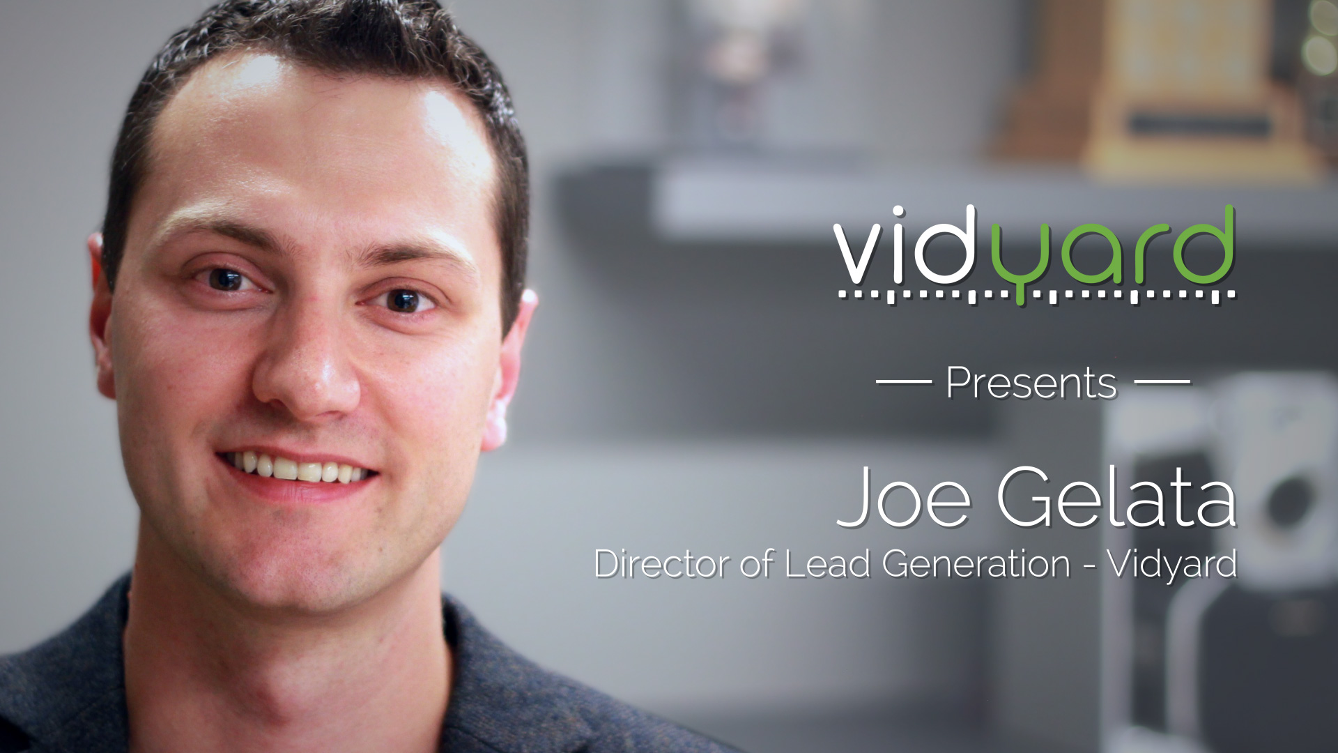 Joe Gelata: Lead Scoring With Marketing Automation & Video Content