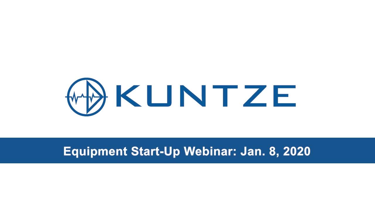 Kunze Equipment Start-up Webinar 1082020