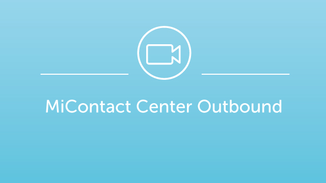 MiContact Center Outbound - Demo