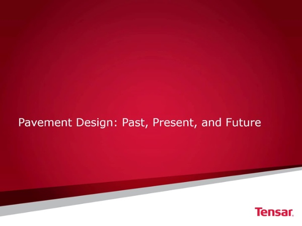 Pavement Design History 120318