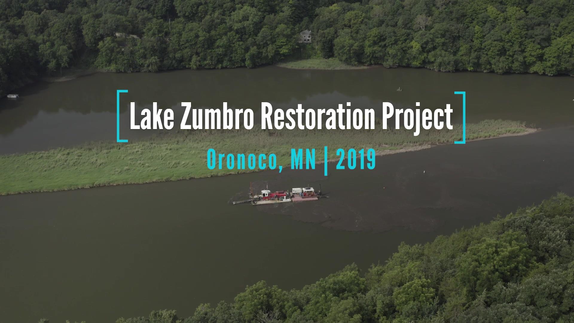 Lake Zumbro Restoration Project-Oct 2019