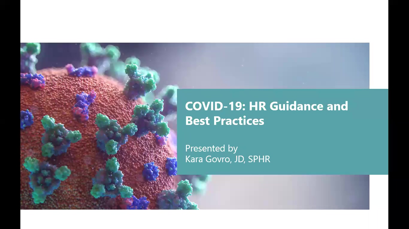 COVID-19 HR Guidance and Best Practices