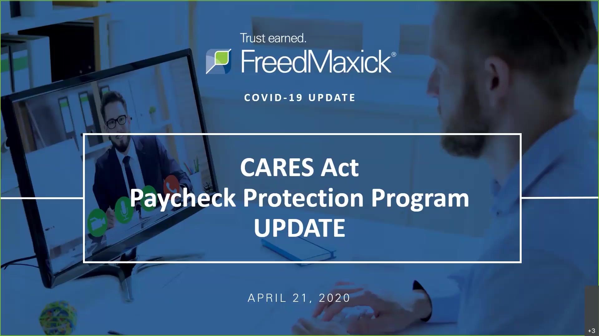 Freed Maxick Webinar CARES Act Protection Program 4-21-20 (1)