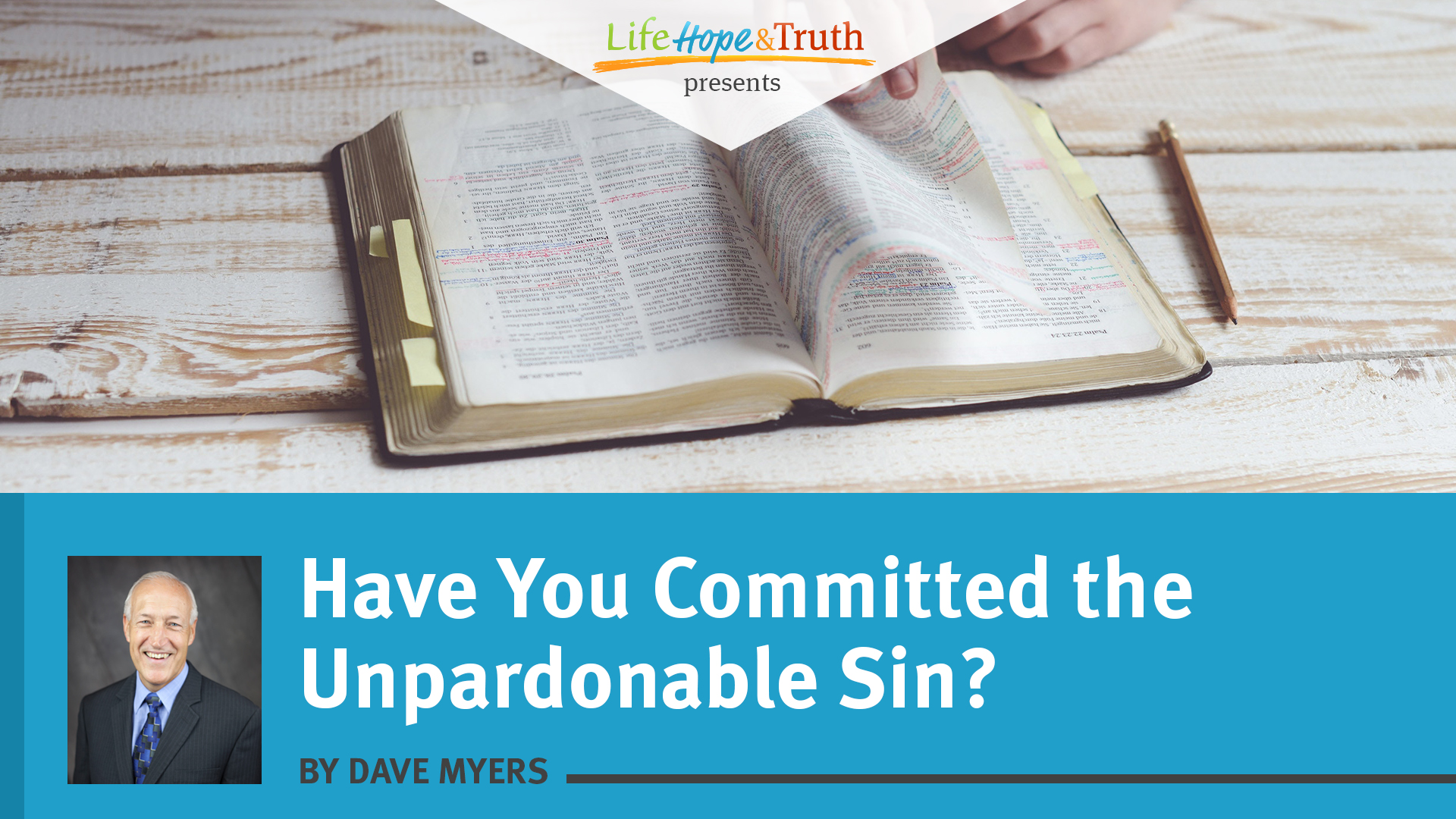 Have You Committed the Unpardonable Sin?