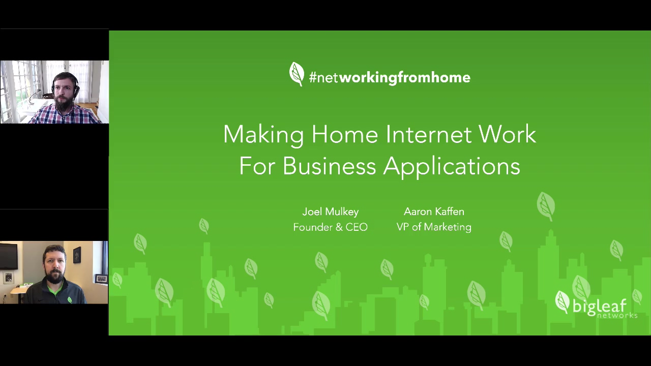 webiar recording - making home internet work for business apps