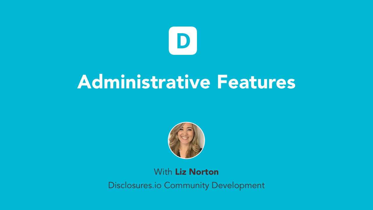Administrative Features video