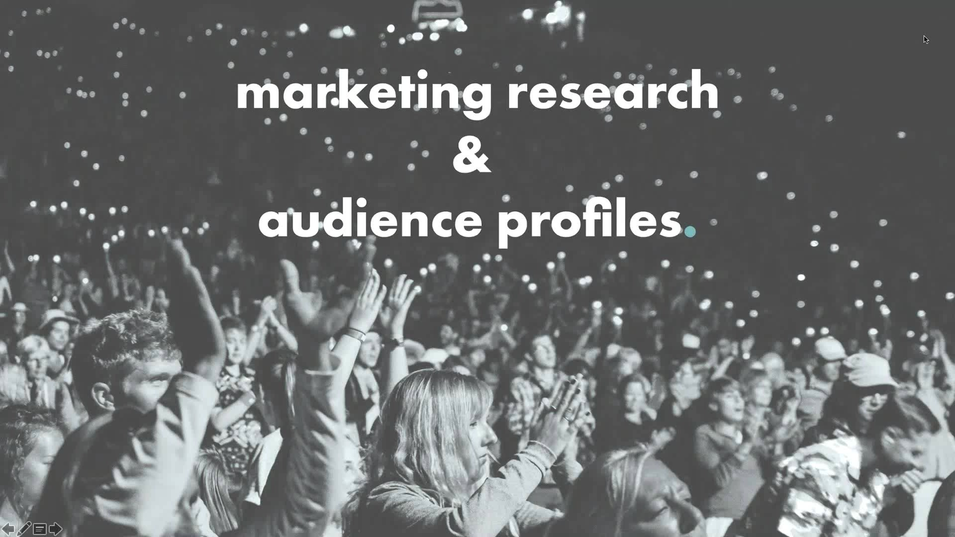 Marketing Research & Audience Profiles